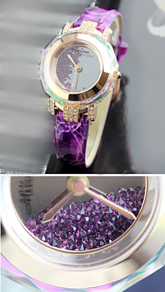Amethyst watch Birthstone for people like me who were born in February ! Love love love love love❤