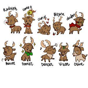 explore 9 reindeer santa s reindeers and more reindeer names reindeer ...