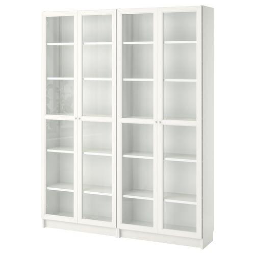 Libreria Ante Scorrevoli Ikea.Billy Oxberg Libreria Con Ante Bianco 80x42x202 Cm Nel 2020