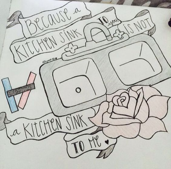 The Kitchen Sink Art Drawing Sketch Sketchbook By: Twenty One Pilots