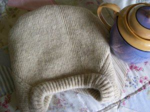 Sweater used to make Tea Cozy