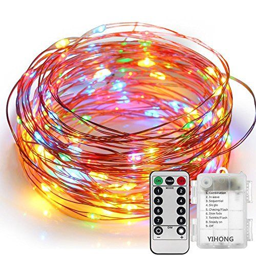 YIHONG Fairy Lights 8 Modes String Lights Battery Operate...