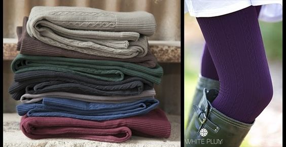 White Plum's Cable Knit Fleece Lined Leggings! 5 Colors Available! + Jane.com Deals!
