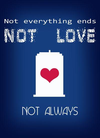 Doctor Who - not love not always Art Print