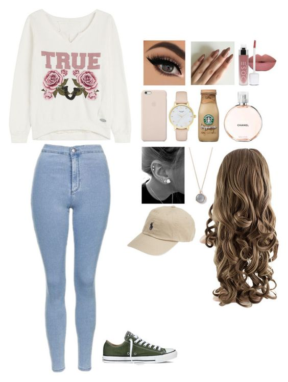 """""""Untitled #229"""" by babsyorcrush ❤ liked on Polyvore featuring True Religion, Topshop, Black Apple, Kate Spade, Chanel, Ippolita, Converse and Ralph Lauren"""