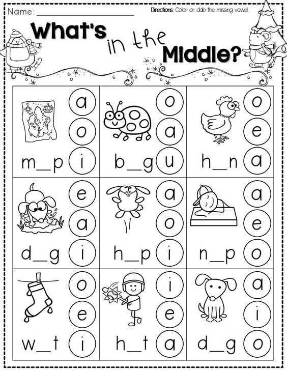 FREEBIE A packet of noprep printables to help make it to winter – Kindergarten Cvc Worksheets