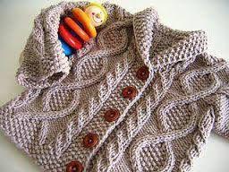 Resultado de imagen para ropa tejida para niña a dos agujas