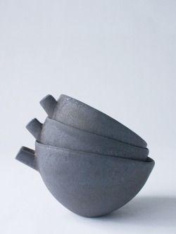 ryota aoki pottery - Katakuchi Black s/m/l