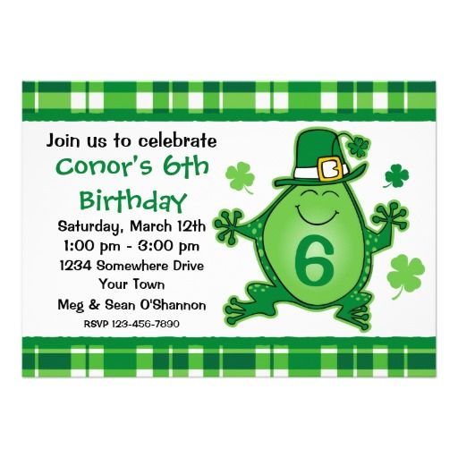 Leprechaun Frog Birthday Party Invitation This site is will advise you where to buyThis Deals          Leprechaun Frog Birthday Party Invitation Online Secure Check out Quick and Easy...