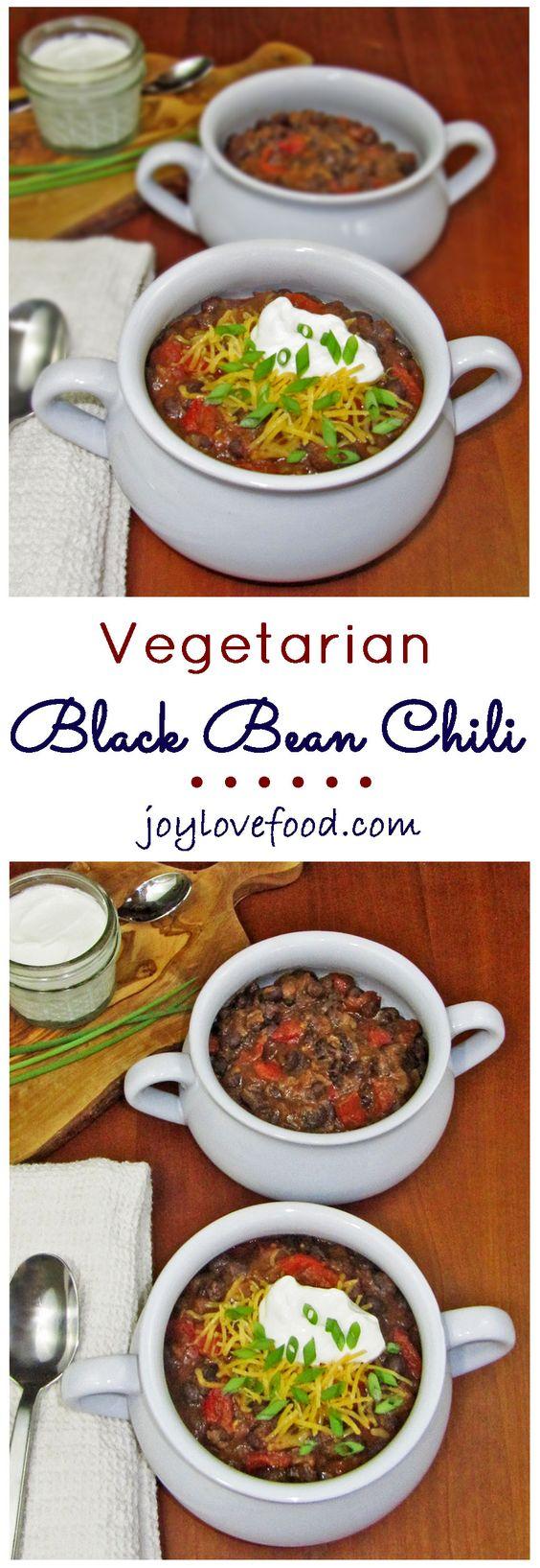 Vegetarian Black Bean Chili | Recipe | Black Bean Chili, Bean Chili ...