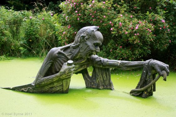 Death of the Ferryman, one of the statues on exhibit at Victorias Way Indian Sculpture Garden, Co Wicklow, Ireland