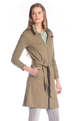 Fall is upon us and its time to get your cold weather wardrobe ready. This coat features pockets, a zipper, and a detachable belt! The Encore Trench is the perfect piece for your cold weather wardrobe