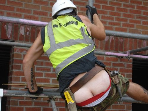 Construction workers butt cracks fetish