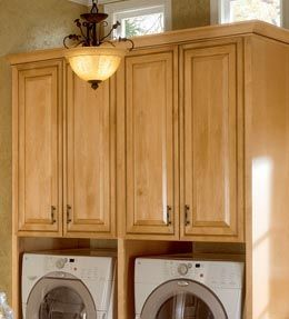 Just Cabinets Kraftmaid Cabinets And Washer And Dryer On