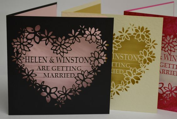 wedding invitation - one of our new designs to launch our new site in coming days. please register your interest www.infinity-laser-cutting.co.uk