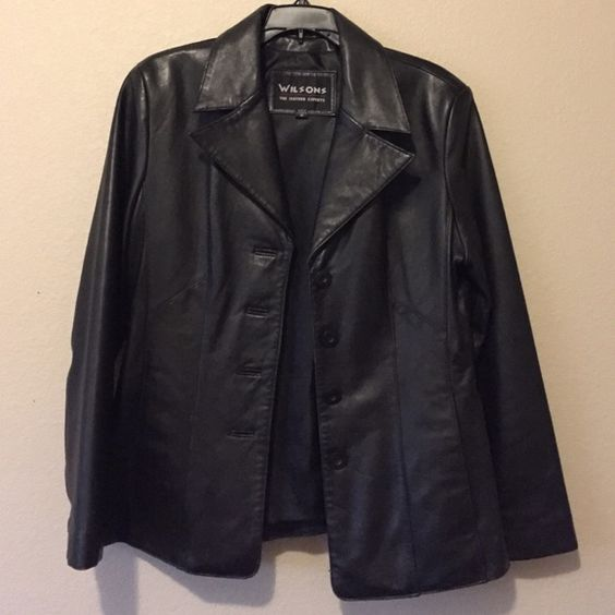 Wilson's 100% leather jacket blazer Like brand new. Perfect condition. Perfect for fall/winter will definitely be willing to negotiate. Wilsons Leather Jackets & Coats
