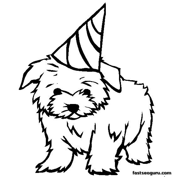 Printable Line Drawings Of Animals : Dog coloring pages for kids homepage animal
