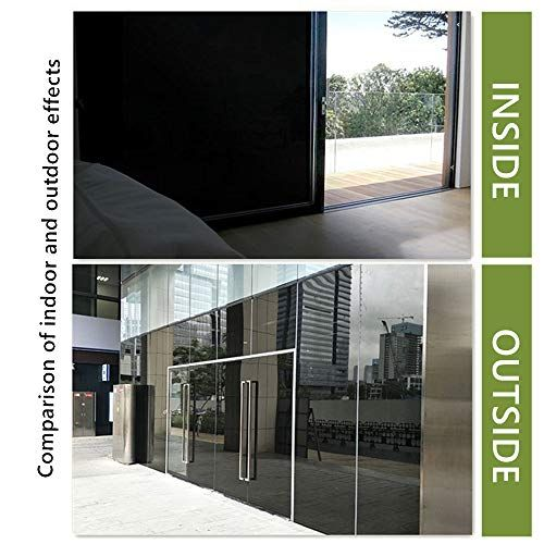 Velimax Static Cling Total Blackout Window Film Privacy Room Darkening Window Tint Black Window Cover 100 Light Blocking No Glue 17 7 X 78 7 Inches Window Film Privacy Window Film Tinted Windows