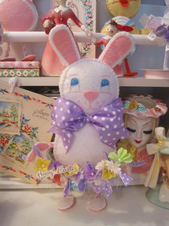 Easter Rabbit Pattern Link Easter Bunny Crafts Felt Toys Patterns Bunny Crafts