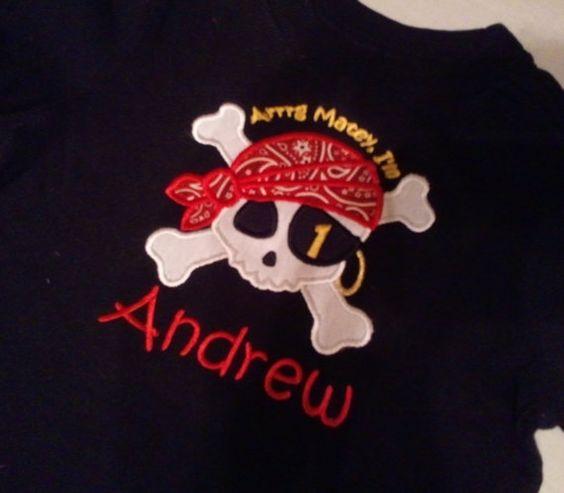 Shirt: Birthday Shirts, Pirate Birthday, 5Th Birthday, Boys Birthday, 1St Birthday, Pirate Shirts, Birthday Party