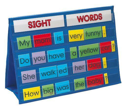 Amazon.com: Smethport Tabletop Pocket Chart Sight Words: Toys & Games