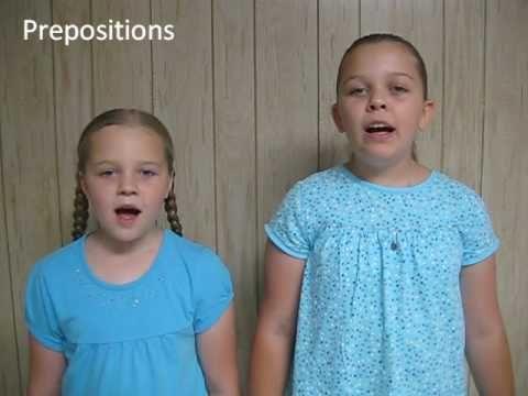 prepositions, helping verbs, linking verbs song