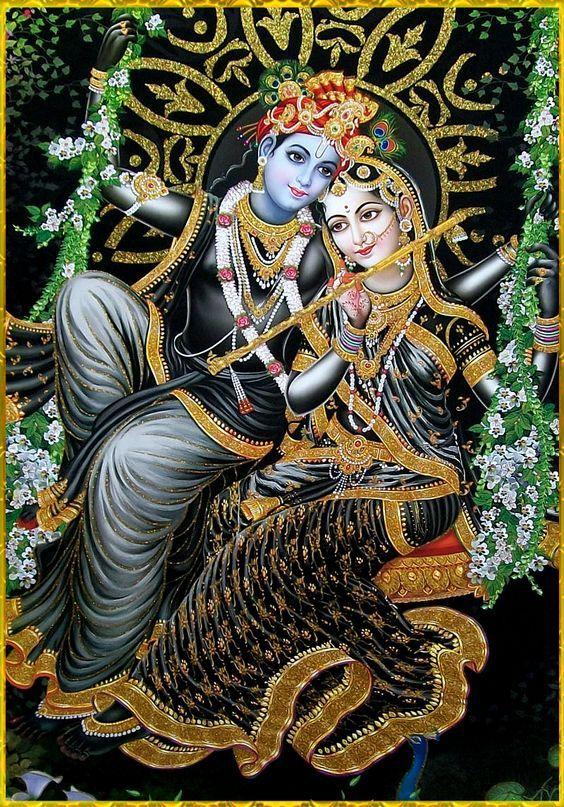Pflanzen vereint mit indischem Götterbild