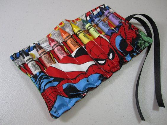 Marvel Comics  XMen  Crayon Roll. Would make a good gift for the b'day boy!