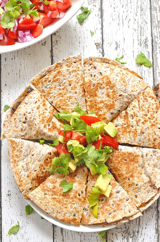 sweet potato quesadillas - vegan and gluten-free