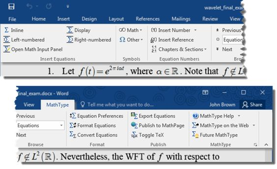 Math Type View