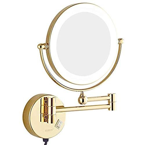 Sanliv Led Lighted Makeup Mirror Fog Free Wall Mount Dual Sided Vanity Wall Mounted Makeup Mirror Makeup Mirror With Lights Wall Mounted Lighted Makeup Mirror