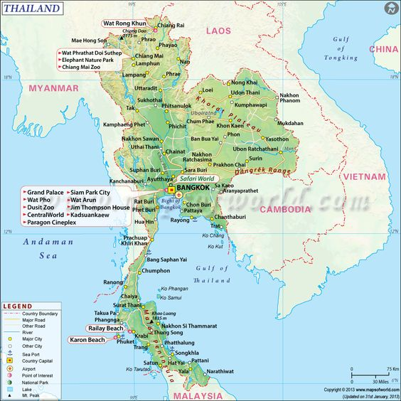 Map Of Thailand Google ~ AFP CV