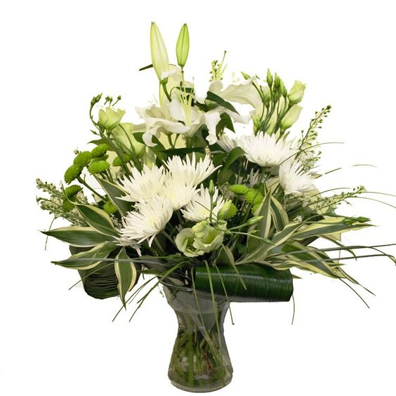 I love the simple beauty of white and green flowers!