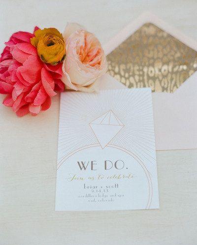 Diamond Rings  Printable Wedding Invitation by umama143 on Etsy, $50.00