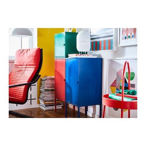 Chiffonnier Relooke Style Industriel Rouge Meubles Et Rangements Par Nad Renov Mobilier De Salon Meuble Metallique Meubles Peints En Rouge