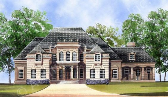 Chanteray House Plan Front Rendering