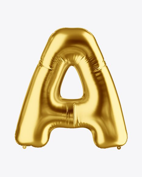 Download Letter A Foil Balloon Mockup In Object Mockups On Yellow Images Object Mockups Mockup Free Psd Free Packaging Mockup Free Psd Mockups Templates