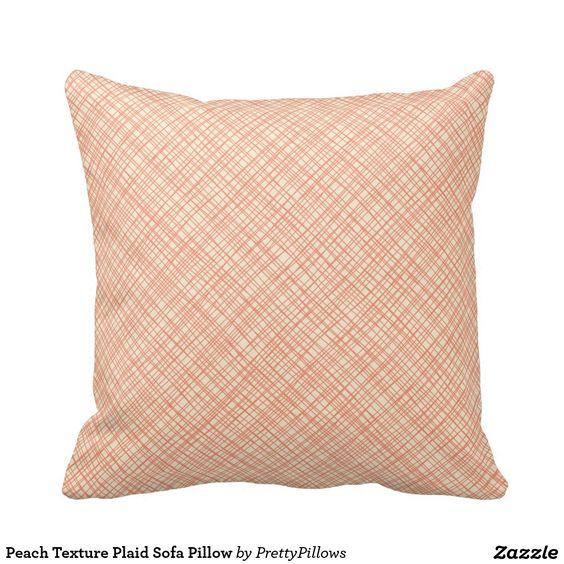 Golden Yellow Texture Plaid Sofa Pillow