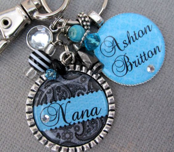 Nana Necklace Mother Necklace Personalized Children's by buttonit, $27.00