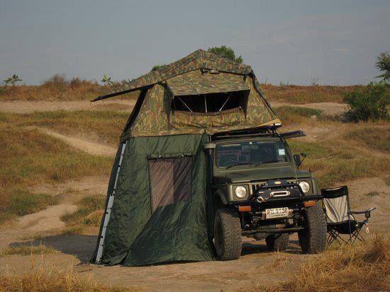 ジムニー キャンプ時のルーフテント