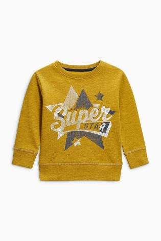 Acheter Haut à col ras du cou Superstar ocre (3 mois - 6 ans) disponible en ligne dès aujourd'hui sur Next : France