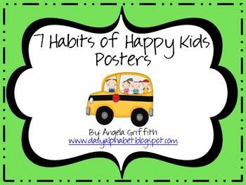 7 habits posters- free