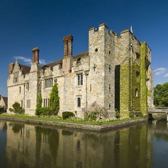 Hever Castle, the Boleyn home. However, Anne Boleyn was probably born in Blickling Hall Norfolk, as Hever was acquired after her birth.