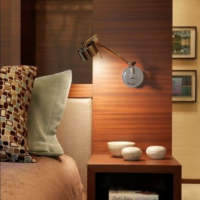 Floating Bedside Table With Light