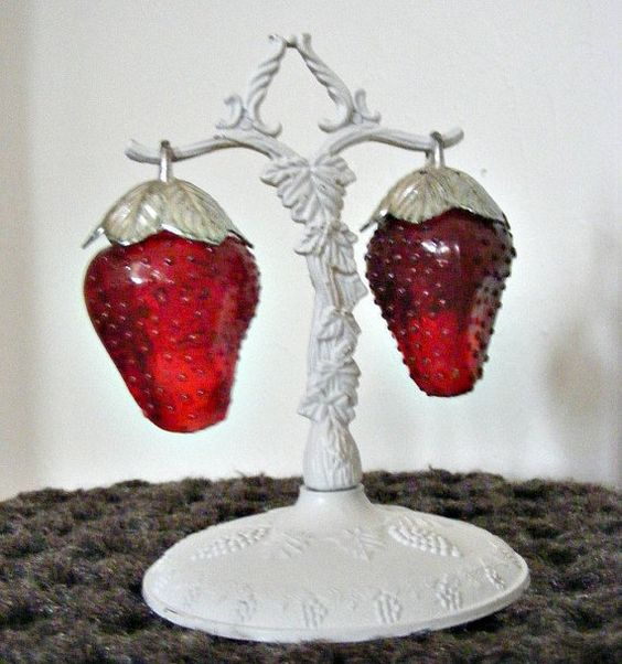 1950s Strawberry Salt & Pepper Shakers with by BaileysBoudoir