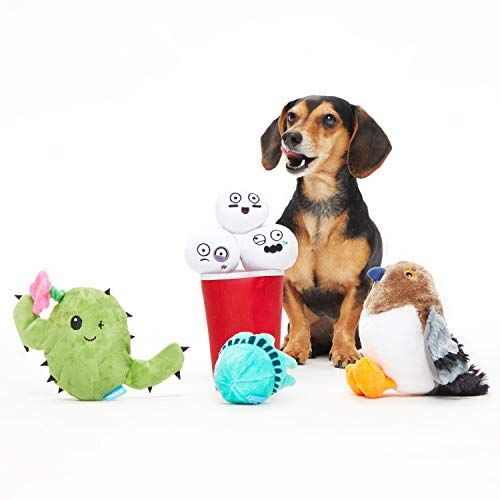 Barkbox Best Of Box Plush Toy Bundle For Small Dogs 2 In 1 Squeak