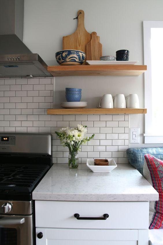 Open Kitchen Shelving Quartz Kitchen Countertops And