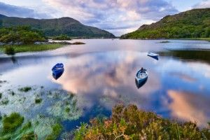 The Ring of Kerry, located in County Kerry, is a tourist route that runs through Killarney (lake pictured below,) Waterville, Glenbeigh, and a few other Kerry cities. Along the way, you'll see sites like the Derrynane House, Ross Castle, and the Gap of Dunloe, just to name a few.  Learn most about #Ireland travel. http://www.atlastravelweb.com/Destinations/Ireland-Tours.html