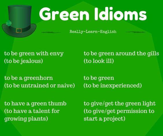 Green #idiom
