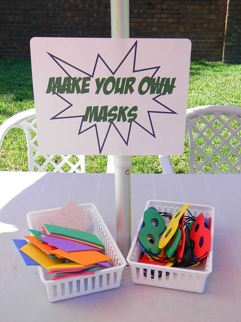 Make your own masks - could give people masks to wear as a superhero